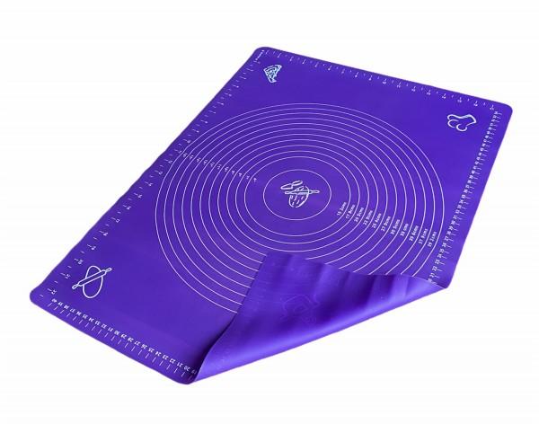 Silikon Teigmatte LILA 45x60 cm Ausrollmatte Backmatte Teigunterlage Backunterlage
