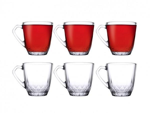 Pasabahce MERCAN 55733 Kleine Teegläser Kaffeegläser 160ml 6er Set