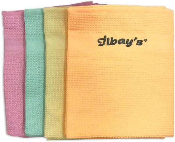 Ilbays Premium Putztücher 4er Mix-Set Mikrofaser Trockentuch