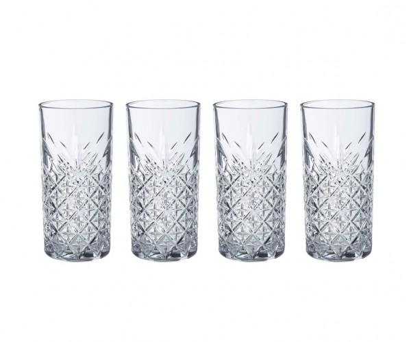 Pasabahce TIMELESS 520205 Wassergläser Lang 365 ml 4er Set