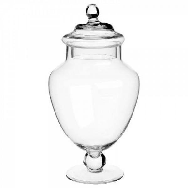 Bonbonniere Keksdose Vorratsdose 15x30 cm Glas mit Deckel