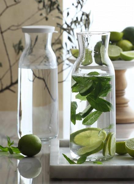 Lav FONTE Glas Karaffe mit Silikon Deckel 1,2 Liter