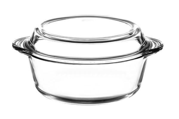BORCAM 59013 Glas Auflaufform Topf mit Deckel 3,15 Liter 27cm