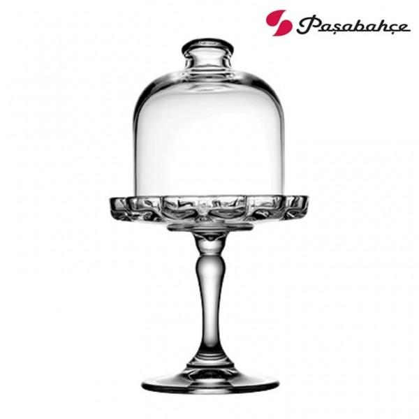 Pasabahce MELIS 96457 Mini-Patisserie auf Fuß mit Glasglocke