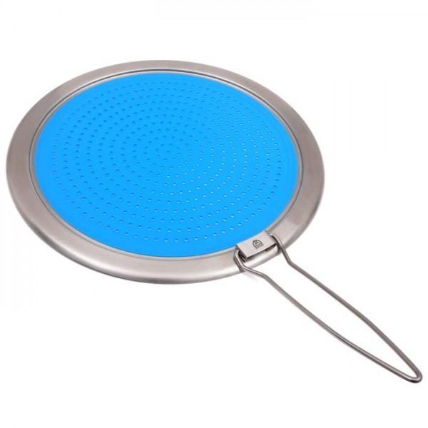 Pfannen-Spritzschutz aus Silikon mit Edelstahlring, Ø 32 cm