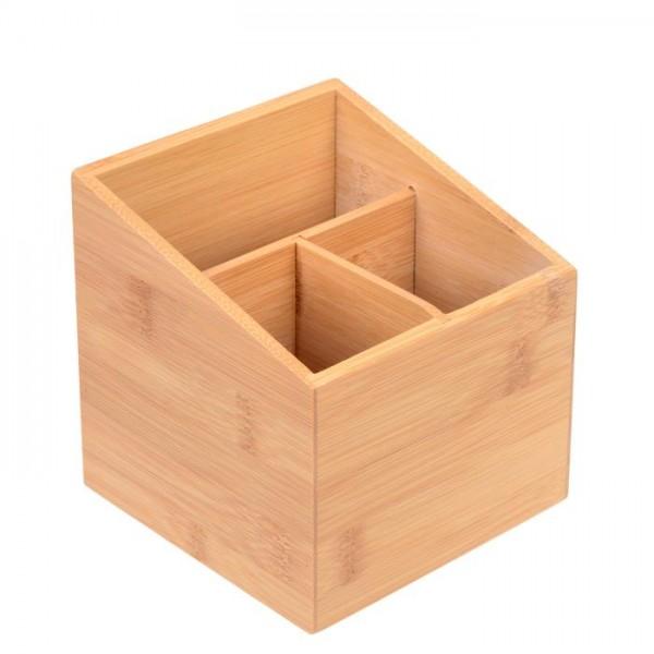 Aufbewahrungsbox aus Bambus mit 3 Fächern