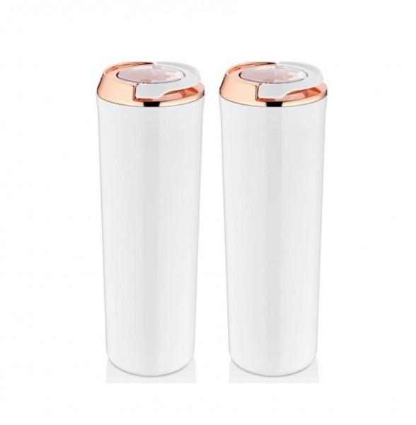 Vakuum Aufbewahrungsbehälter 1,75 Liter 2er Pack Weiß-Kupfer Vipahmet VP-129