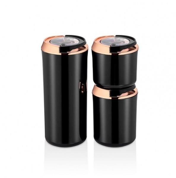 Vakuum Aufbewahrungsbehälter 3er Set Schwarz-Kupfer Vipahmet VP-130