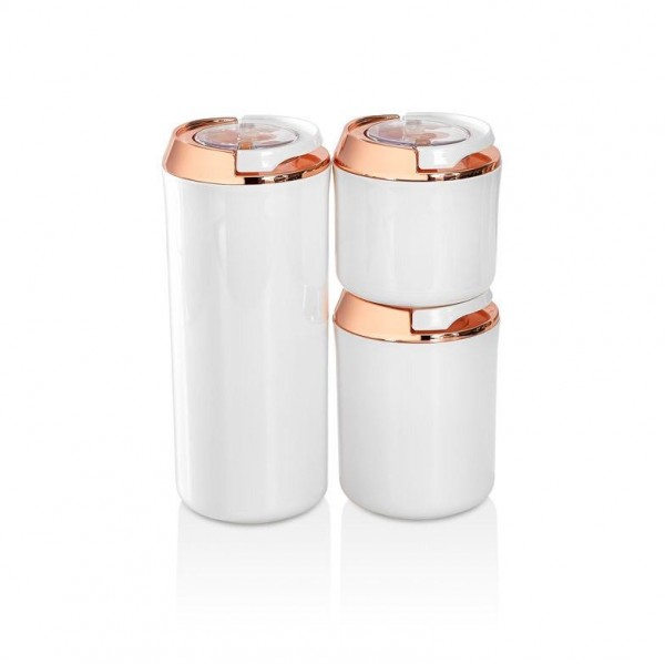 Vakuum Aufbewahrungsbehälter 3er Set Weiß-Kupfer Vipahmet VP-131