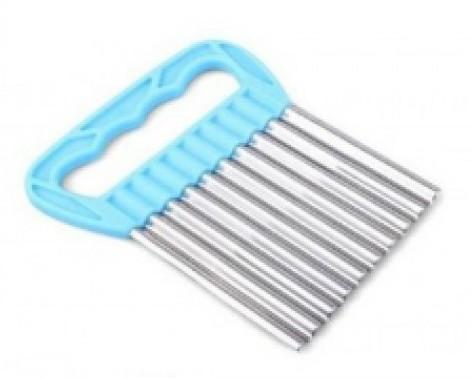 Edelstahl Chips-Form Wellen-Form Schneider Blau