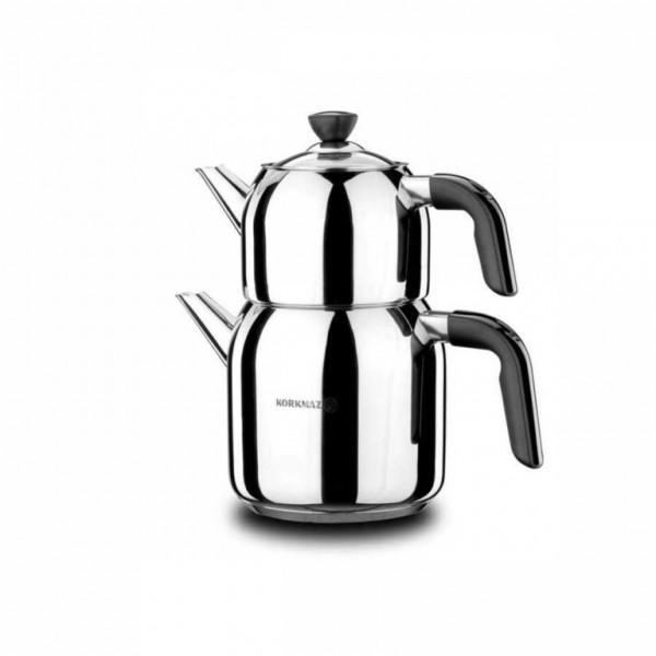 Korkmaz Teekanne Kappa A078-01 Silber Induktion 2,0 L - 0,9 L