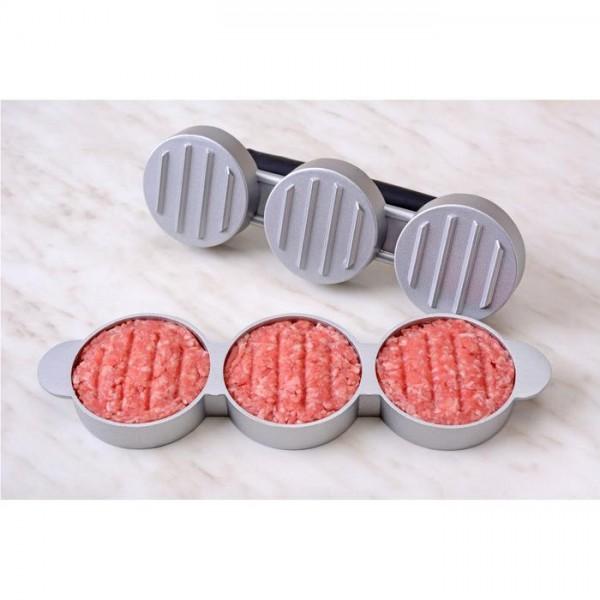 Mini-Hamburger Presse für 3 Patties