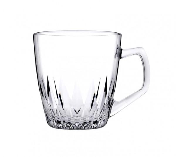 Pasabahce SAFIR 55713 Teegläser Kaffeegläser mit Henkel 250ml 6er Set