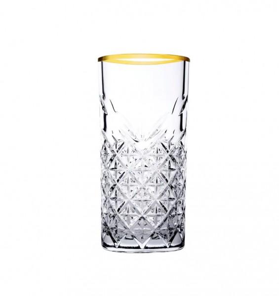 Pasabahce TIMELESS GOLD 52800 Longdrink Glas 450 ml 4er Set